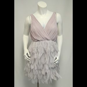 Ark & Co Feathered Style Gray Dress